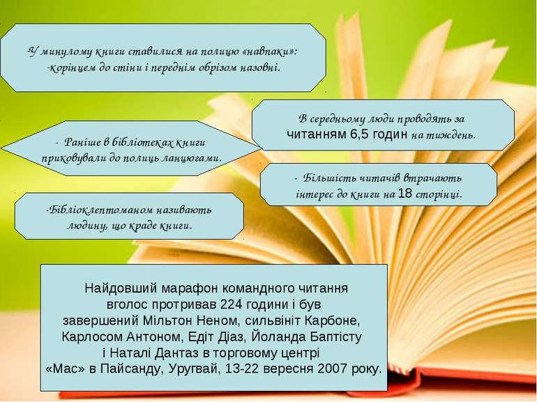В середньому люди проводять за читанням 6,5 годин на тиждень. - Раніше в біб...
