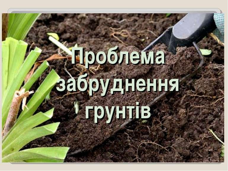 Проблема забруднення грунтів
