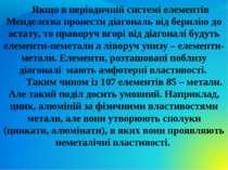 Якщо в періодичній системі елементів Менделєєва провести діагональ від берилі...