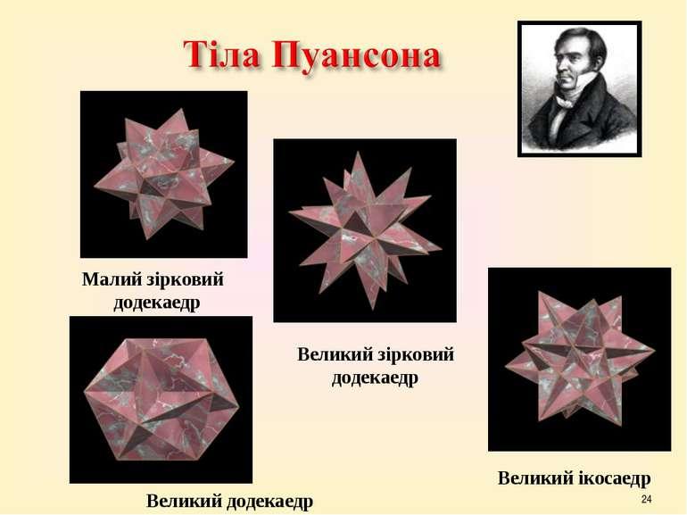 * Малий зірковий додекаедр Великий зірковий додекаедр Великий додекаедр Велик...