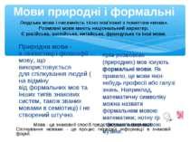 Мови природні і формальні Природна мова- влінгвістицііфілософіїмову, що ...