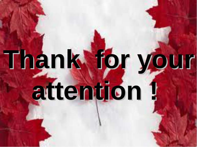 Thank for your attention !