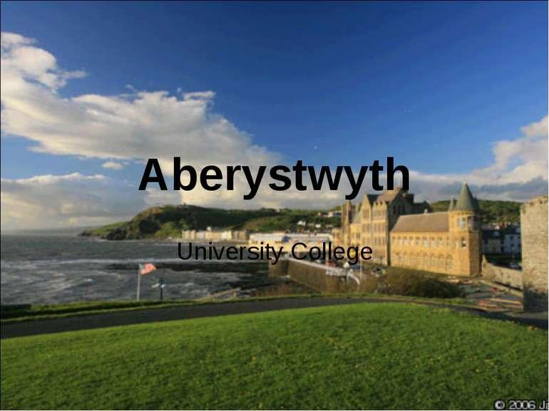 Aberystwyth University College