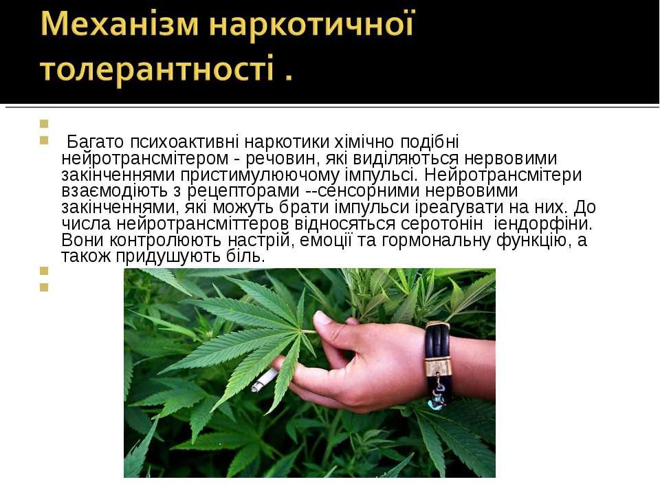 Багато психоактивні наркотики хімічно подібні нейротрансмітером - речовин, ...