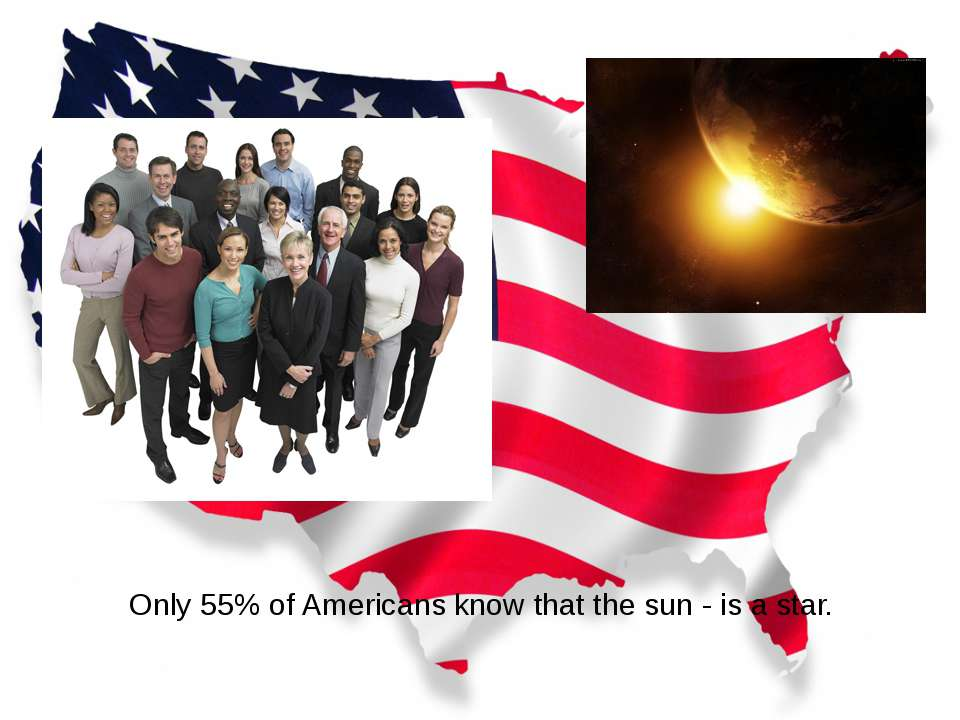 Only 55% of Americans know that the sun - is a star.
