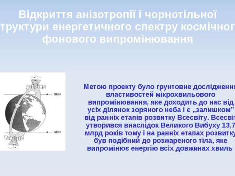 Відкриття анізотропії і чорнотільної структури енергетичного спектрукосмічно...