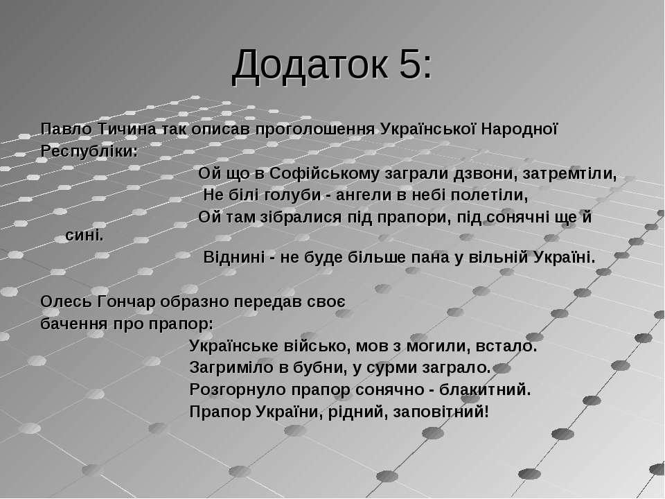 Додаток 5: Павло Тичина так описав проголошення Української Народної Республі...