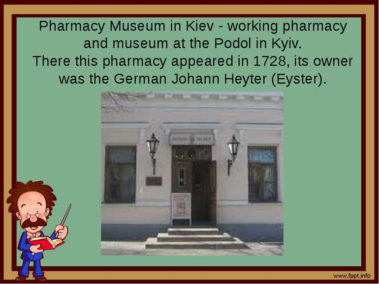 Pharmacy Museum in Kiev - working pharmacy and museum at the Podol in Kyiv. T...
