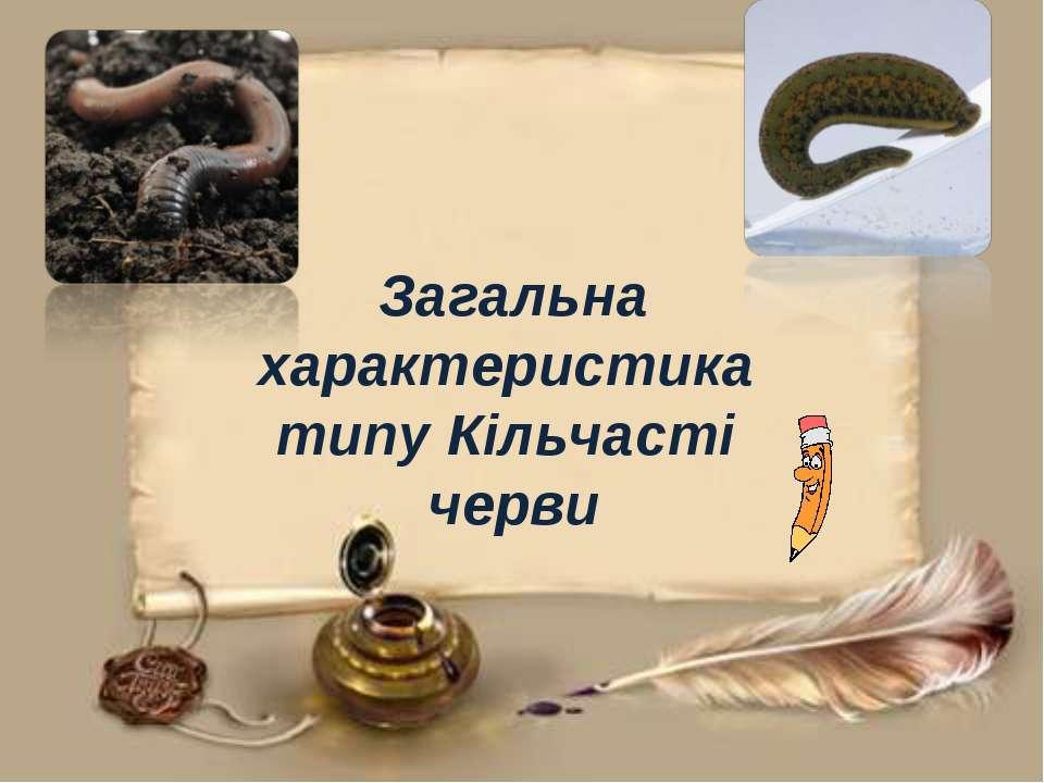 Загальна характеристика типу Кільчасті черви