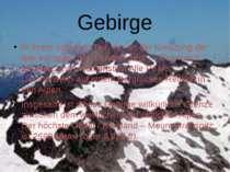 Gebirge In ihrem östlichen Teil, der an der Kreuzung der drei europäischen Lä...