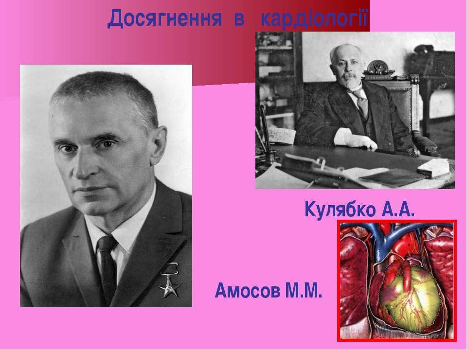 Кулябко А.А. Досягнення в кардіології Амосов М.М.