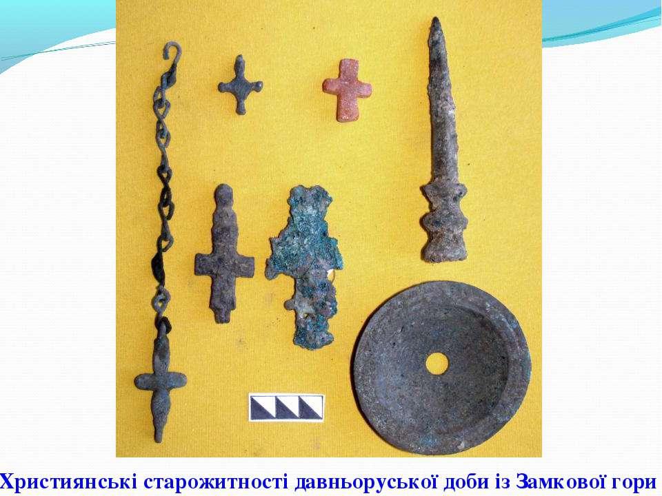 Християнські старожитності давньоруської доби із Замкової гори