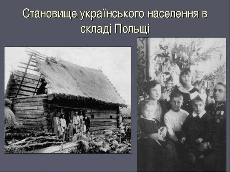 Становище українського населення в складі Польщі