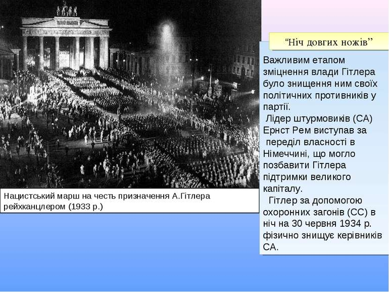 Нацистський марш на честь призначення А.Гітлера рейхканцлером (1933 р.) Важли...