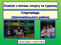 Комісія з питань спорту та туризму Спартакіада Шевченківського району Капітан...