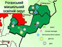2 1 3 5 4 Опорні заклади Загальноосвітні школи ДЮСШ ДНЗ Роганський міжшкільни...