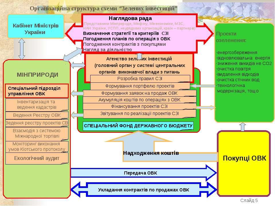 """Організаційна структура схеми """"Зелених інвестицій"""""""