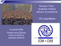 Близько 7 млн. громадян України працює за кордоном – 15% населення За даними ...