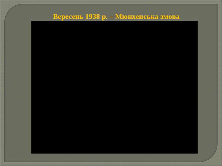 Вересень 1938 р. – Мюнхенська змова