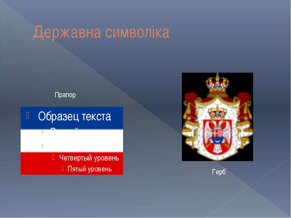 Державна символіка Прапор Герб