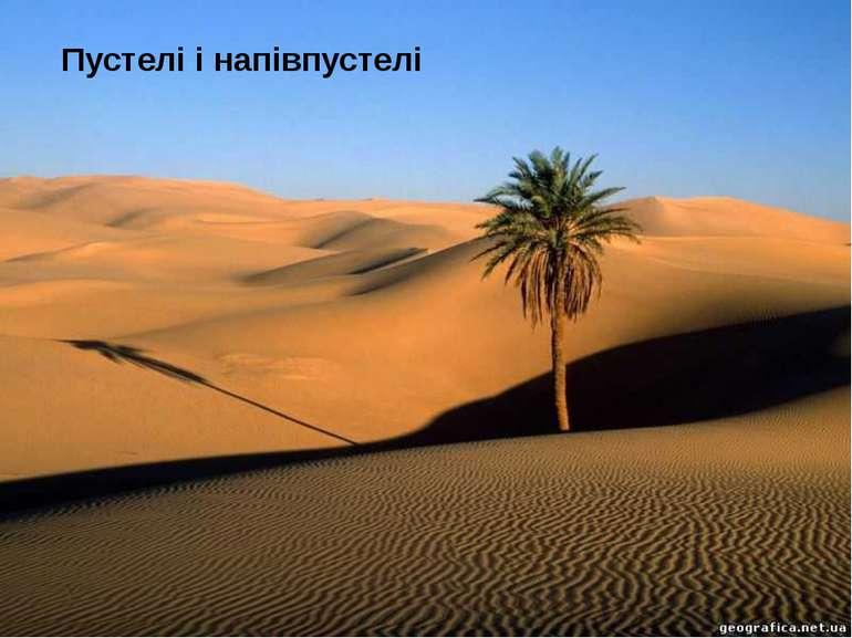 Пустелі і напівпустелі