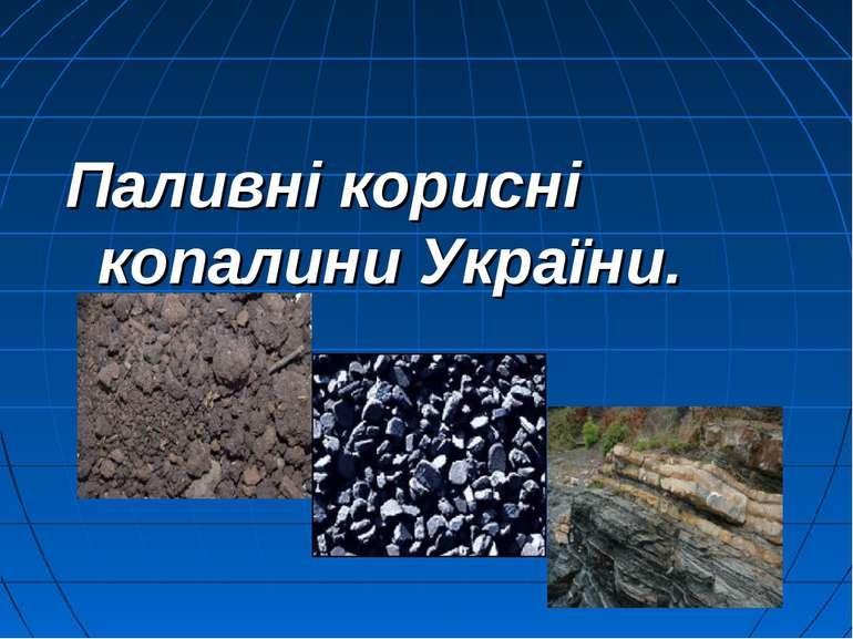 Паливні корисні копалини України.