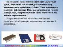 Прикладами такої пам'яті є гнучкий магнітний диск, жорсткий магнітний диск (в...