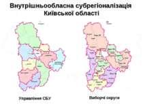 Внутрішньообласна субрегіоналізація Київської області