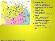 Грудень 1979 – введення радянських військ в Афганістан. Засудження ООН агресі...