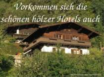 Vorkommen sich die schönen hölzer Hotels auch
