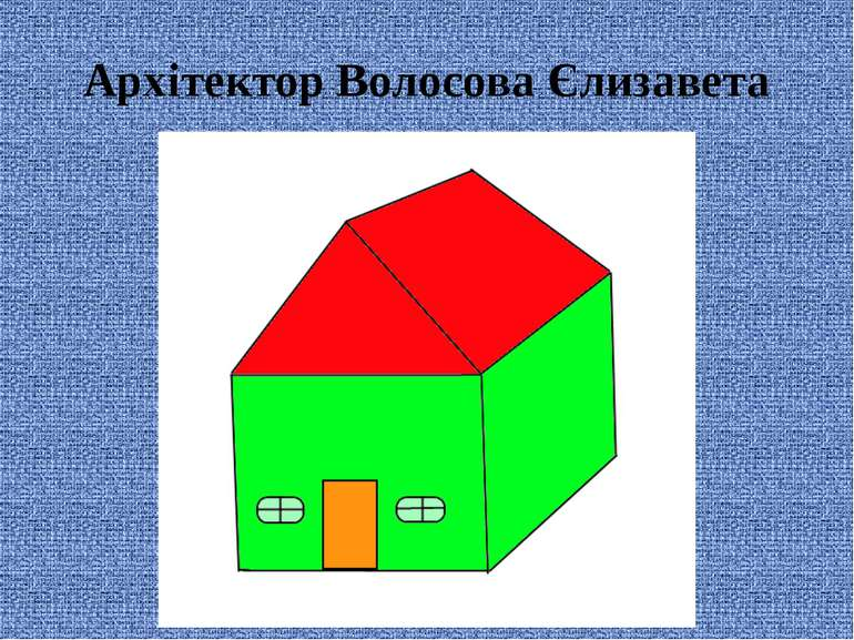 Архітектор Волосова Єлизавета