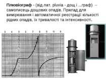 Плювіограф - (від лат. pluvia - дощ і ...граф) – самописець дощових опадів. П...