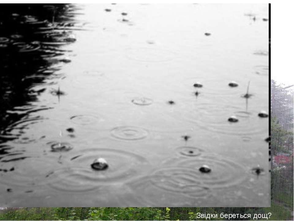 Рідкі опади Дощ Звідки береться дощ?