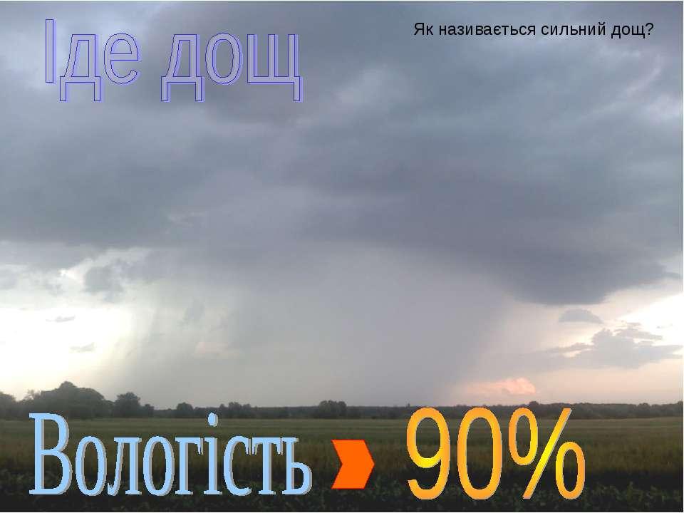 Як називається сильний дощ?