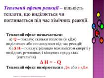 Жукова О.В. Новоукраїнська ЗШ №8 Кіровоградська обл. Тепловий ефект позначаєт...
