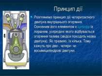 Принцип дії Розглянемо принцип дії чотиритактного двигуна внутрішнього згорян...