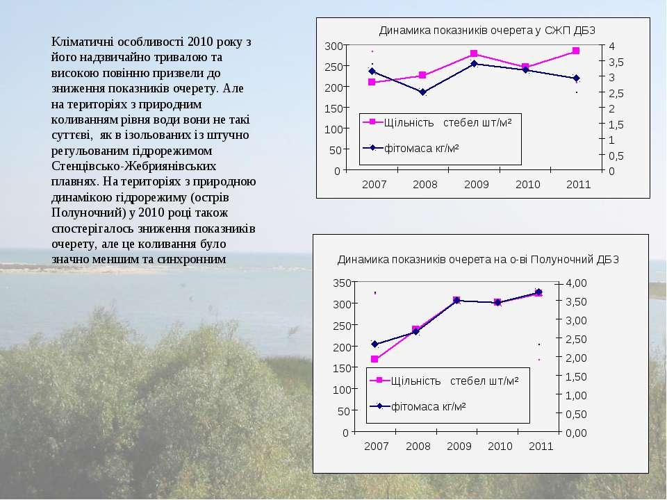 Кліматичні особливості 2010 року з його надзвичайно тривалою та високою повін...