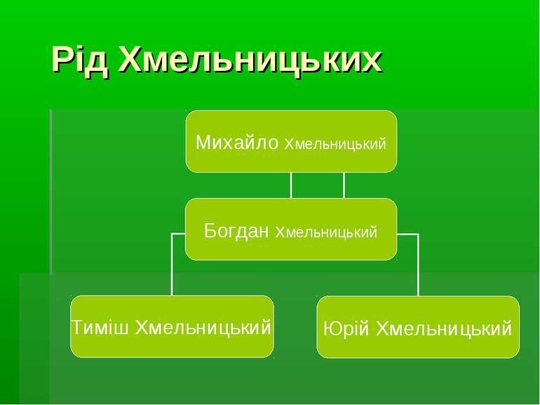 Рiд Хмельницьких