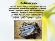 Японія - велика рибальська держава. Високою ефективністю відзначений пр...