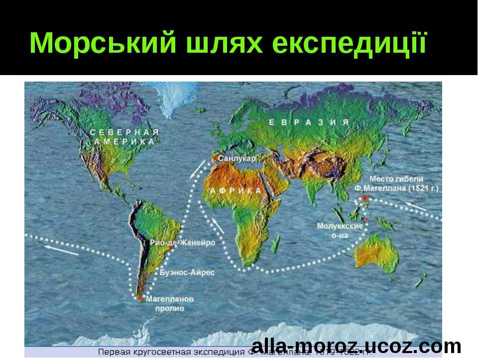 Морський шлях експедиції alla-moroz.ucoz.com