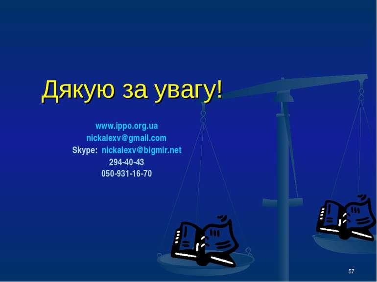 * Дякую за увагу! www.ippo.org.ua nickalexv@gmail.com Skype: nickalexv@bigmir...