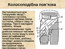 """Колосоподібна пов'язка Застосовується для """"незручних місць"""": плечового сугл..."""