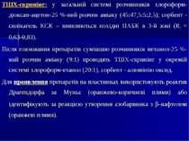 ТШХ-скринінг: у загальній системі розчинників хлороформ-діоксан-ацетон-25 %-в...
