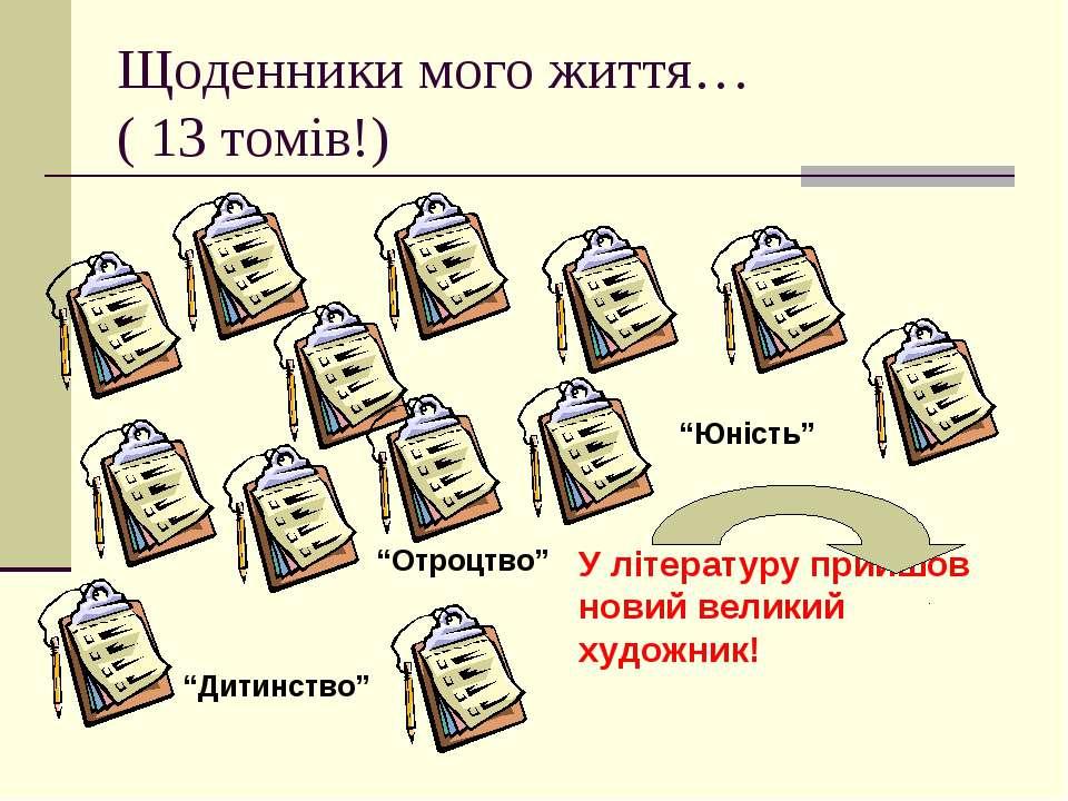"""Щоденники мого життя… ( 13 томів!) """"Дитинство"""" """"Отроцтво"""" """"Юність"""" У літерату..."""