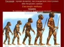 Еволюція - процес розвитку, що складається з поступових змін без різких скачк...