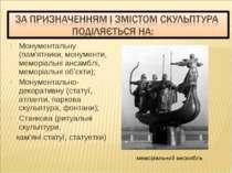 Монументальну (пам'ятники, монументи, меморіальні ансамблі, меморіальні об'єк...