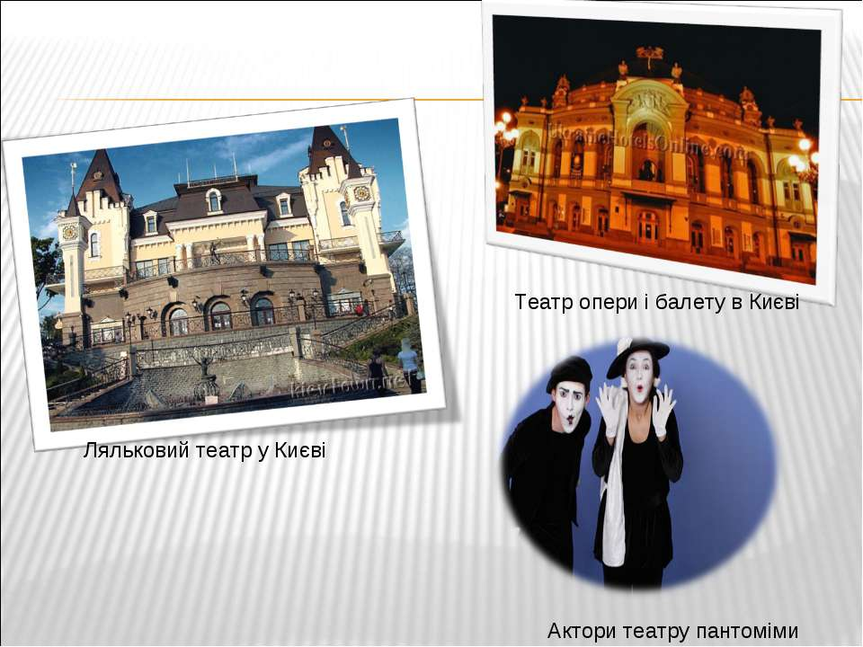 Ляльковий театр у Києві Театр опери і балету в Києві Актори театру пантоміми