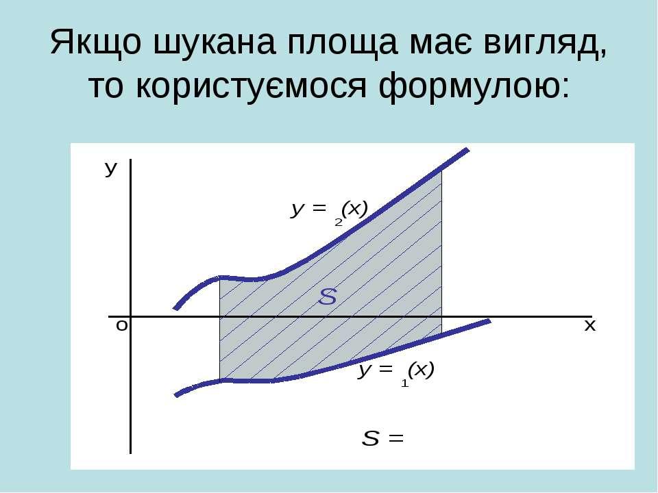 Якщо шукана площа має вигляд, то користуємося формулою: