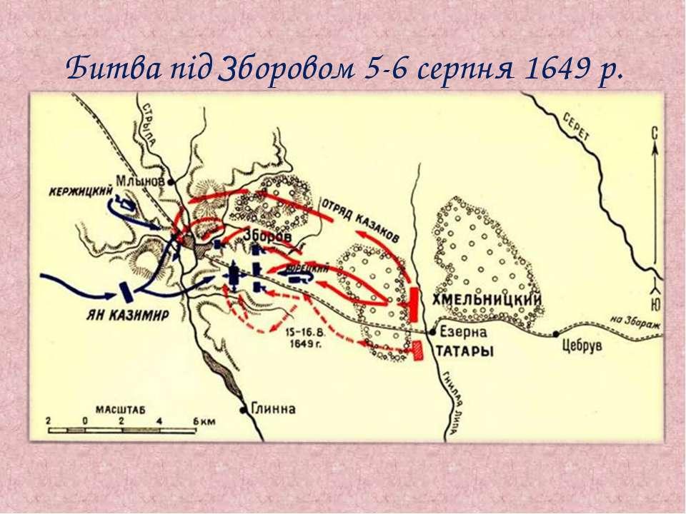 Битва під Зборовом 5-6 серпня 1649 р.