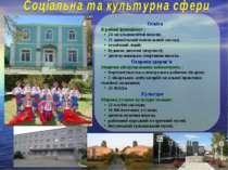Освіта В районі функціонує : • 24 загальноосвітні школи; • 21 дошкільний навч...